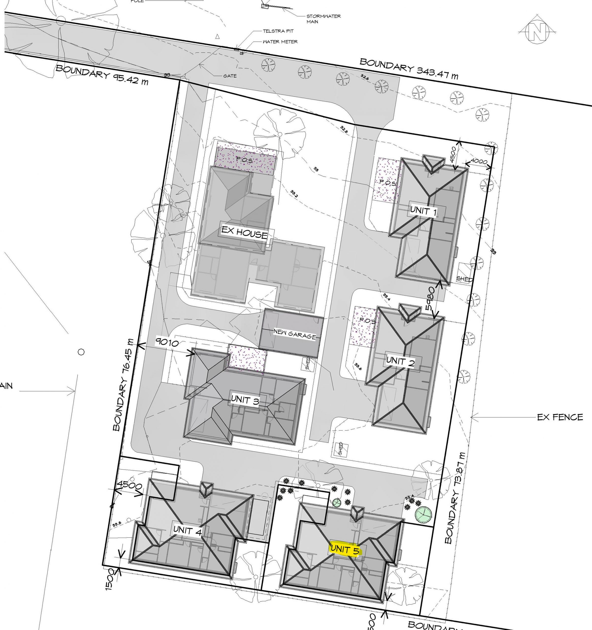 Unit 5 Site Plan